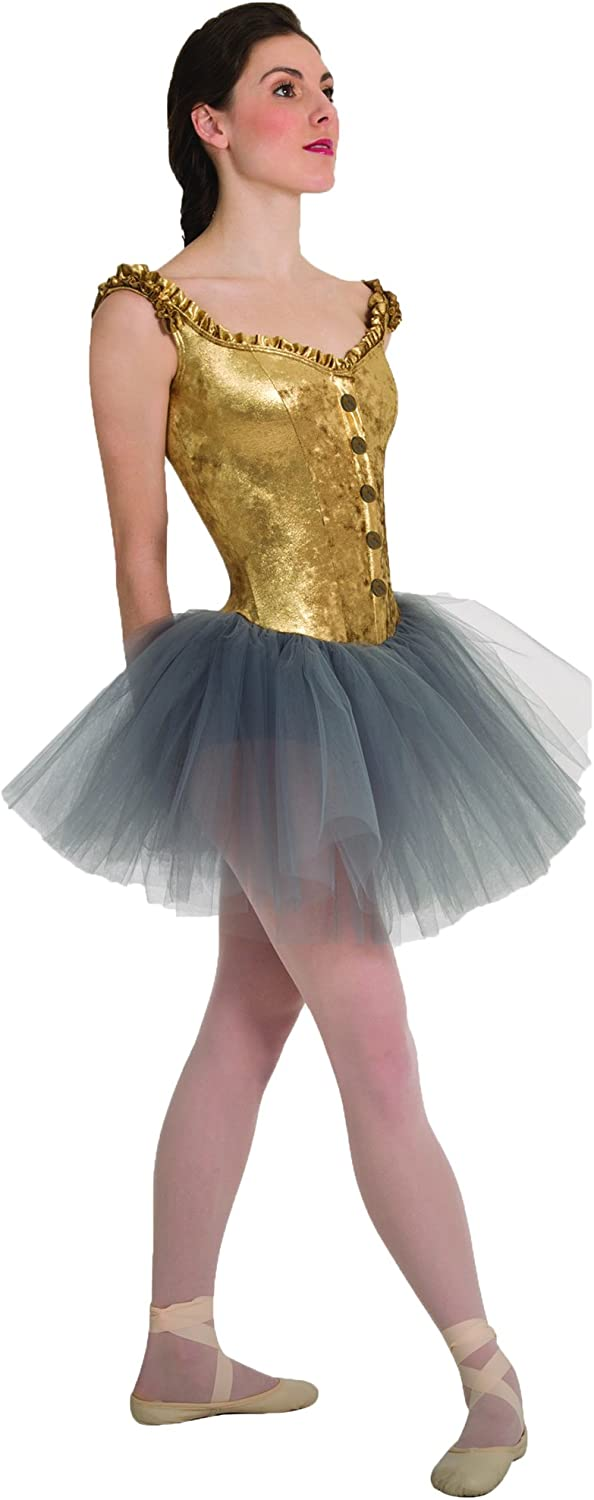 Body Wrappers Womens Tutu W Off Shoulder Metallic Panné Velvet Corset (P9000)