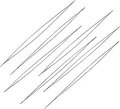 10pcs Stainless Steel Big Eye Beading Needles 4.9 Inch Threading Beading Tools