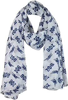 Zeta Phi Beta Oversized Lightweight White and Blue Dove Scarf (36x72 Inches)