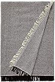 Tienda EURASIA® Colcha Multiusos para Sofá Estampado Espiga - Plaid Multiusos para Cama - Foulard Ideal para Sofás y Camas (Negro, 230 x 260 cm)