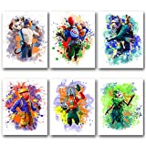 HUASAI Video Game Themed Wall Art Print Poster, Canvas Gaming Posters for Boys Bedroom Decorations, Gifts, and Birthday Party Decor (Set of 6 Unframed, 8x10 inches)