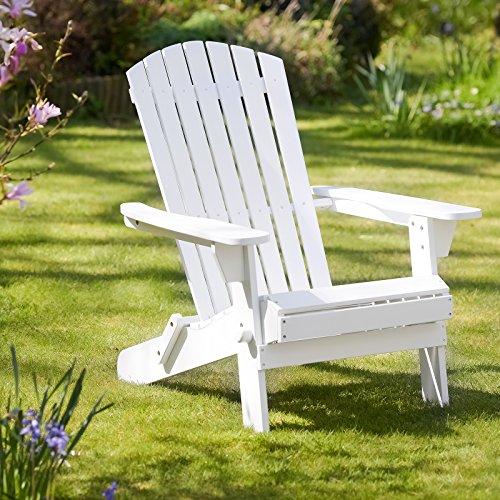 Plant Theatre Adirondack Folding Hardwood Chair - Painted White Idea
