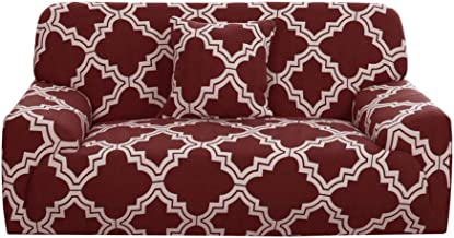 uxcell Printed Sofa Cover Stretch Couch Covers Universal Grid Pattern Slipcover Furniture Protector for Living Room with O...