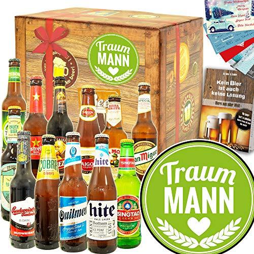 Traummann | Valentingeschenk Männer | Bier Paket Welt