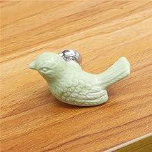 keramische vrede duif lade knoppen 3D cartoon vogel kast handvat nieuwigheid creatieve mode meubels handgrepen hardware-groen