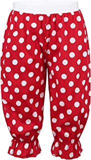 inhzoy Kids Girls Elastic Waist Polka Dot Frilly Pants Panto Clown Pants Bloomers Fancy Dress Costume