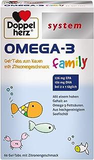 Doppelherz system OMEGA-3 family Gel Tabs –Enthält 180 mg DHA, ein Baustein des..