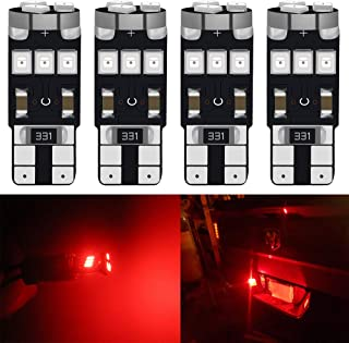 4-Pack T10 194 168 921 250Lums Red Extremely Bright Canbus Error Free LED Light 12V ,9-SMD 2835 Chipsets Car Replacement B...