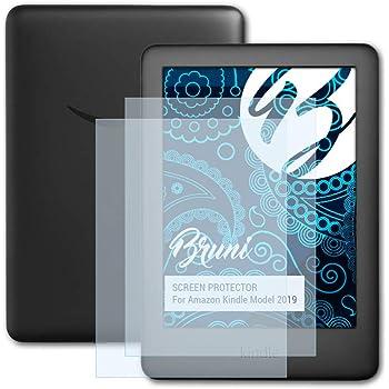Bruni Pellicola Protettiva Compatibile con Amazn Kindl Model 2019 Pellicola Proteggi, Cristallino Proteggi Schermo (2X)