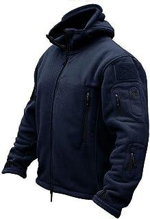 CRYSULLY Men's Military Tactical Sport Warm Fleece Hooded Outdoor Adventure Jacket Coats TJ2