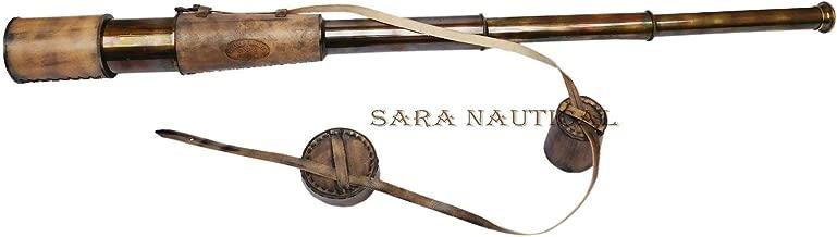 Sara Nautical Telescope King Kelvin & Hughes London 1917 Marine Spyglass Brass Antique