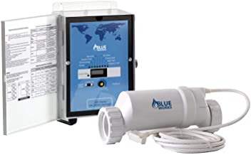 BLUE WORKS Pool Chlorine Generator Chlorinator BLH40 | for 40k Gallon Pool | with Flow Switch and Salt Cell | Cell Plates Made in USA | 5 Year Limited Warranty (White)