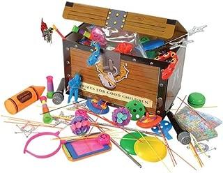Kicko Toy Assortment Box - 100 Pieces per Box - Treasure Chest - Birthday Party Bag Prizes - Kids Toys - Halloween Treats