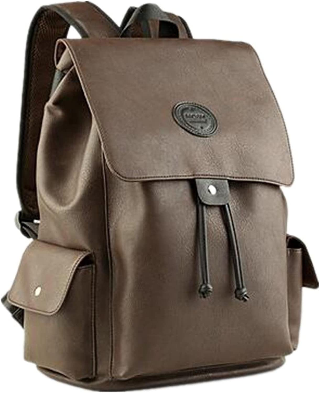 BeiBao Lightweight PU Leather Students Bag Backpack Leisure Short Traveling Multifunction British Style Shoulder Backpacks Large Capacity