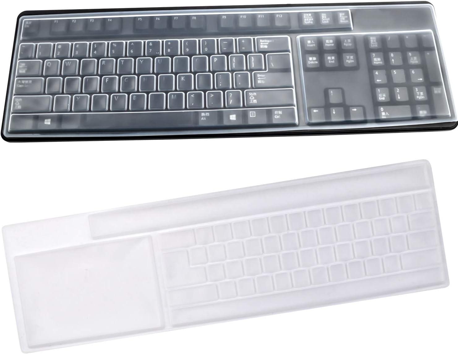 BronaGrand 2 Pack Clear Desktop Computer Keyboard