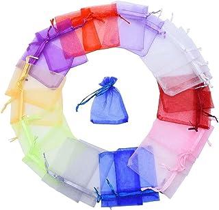 nbeads 100 Pcs Blanc Papillon /À Motif Organza Cadeau Sacs De Faveur De Mariage Sacs Pochettes /À Bijoux 12x10cm