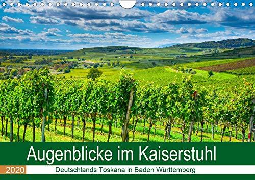 Augenblicke im Kaiserstuhl (Wandkalender 2020 DIN A4 quer): Weinberge so weit das Auge reicht, eingebettet zwischen Schwarzwald und Vogesen, ... (Monatskalender, 14 Seiten ) (CALVENDO Orte)
