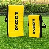 FORZA Boucliers de Percussion pour Rugby/Foot Américain | Sac de Plaquage pour Entraînements (Variété de Tailles) (Bouclier Arrondi, Junior)