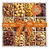 Happy Birthday Gift Basket, Wooden Nut Tray...