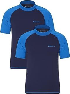 Mountain Warehouse Mens UV Rash Vest - UPF50+ UV Protection Rash Guard, Lightweight, Fast Drying Rash Top, Stretchy, Flat ...