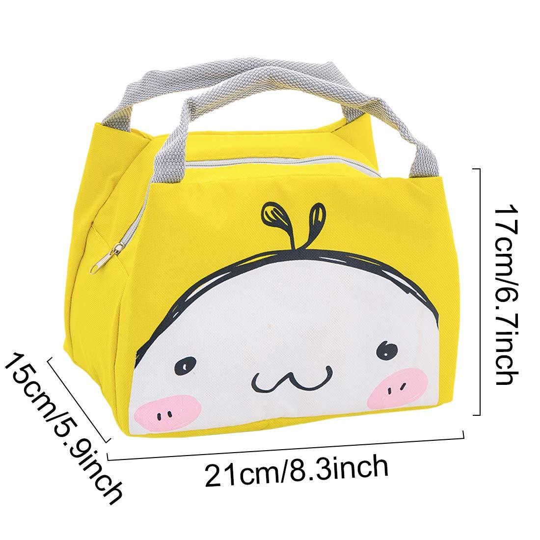 Oyachic Bolsa Termica Bolsas de Almuerzo Lunch Bag Linda Mascota Bolsas de Cremallera Bolsa de Tela Algodon Merienda Impermeable Portátil (cara de la sonrisa): Amazon.es: Hogar