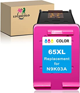 LUCASCOLO Remanufactured Ink Cartridge Replacement for HP 65XL 65 XL Color to use with Envy 5052 5055 5010 5020 5012 5030 ...