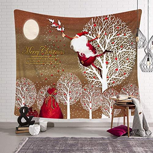 AdoDecor Tapiz de Navidad, Tapiz para Colgar en la Pared de Vacaciones de Navidad, decoración del hogar, Toalla de Playa, Tapiz de Pared, decoración de Regalo, 150X100CM