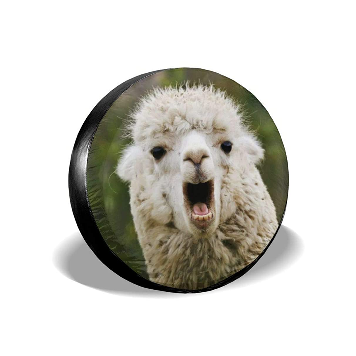 shower curtain liner Llama Tire Cover Polyester Universal Spare Wheel Tire Cover Wheel Covers Jeep Trailer RV SUV Truck Camper Travel Trailer Accessories(14,15,16,17 Inch)