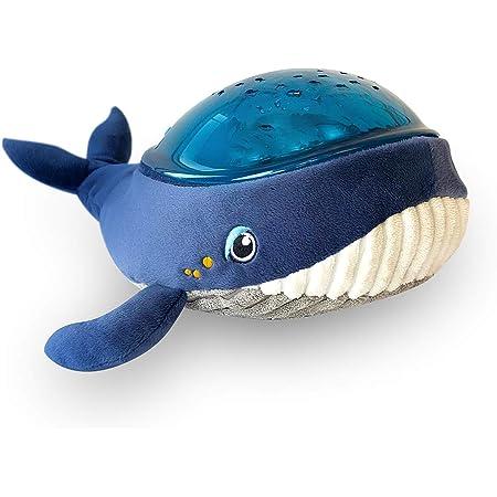 Veilleuse Musicale et Lumineuse - Enfant et Bébé - Peluche en Forme de Baleine - Projecteur Aquatique - Nomade - Lampe - Plafond - Aqua Dream - Bleu - Pabobo x Kid Sleep