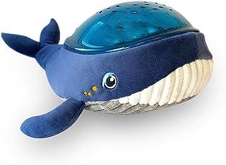 Pabobo - Kid Sleep - Aqua Dream - Baleine - Veilleuse Musicale Nomade et Projecteur Dynamique Aqua pour Bébé et Enfant - Bleu