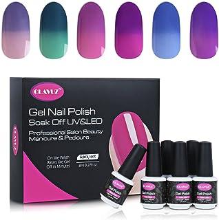 Clavuz 6pcs Kit de Esmaltes de Uñas Gel UV LED Semipermanente Efecto de Camaleón Cambio de Color Manicura y Pedicura