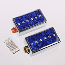 LYWS Humbucker Pickups Bridge and Neck Set for Les Paul Electric Guitar Blue Pearl