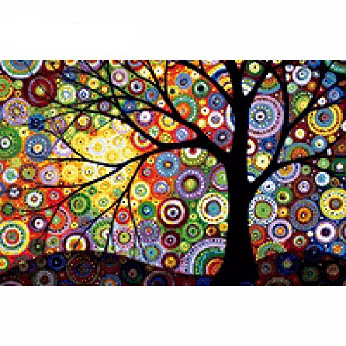 5D DIY Diamond Painting Tree Diamond Painting Cross Stitch Colorful Dream Tree Diamond Drill Rhinestone Home Decoration