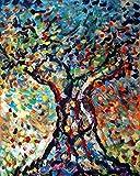 Linfa acrilico su tela 170x150 cm Pintura con espátula con pinturas al óleo y acrílicas, arte de muebles modernos, arte contemporáneo, arte abstracto, paisajes modernos