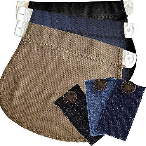 KANGYH Schwangerschaft Hosenerweiterung Taillenstreckband für Schwanger | Passen Sie Ihre Normale Kleidung Wie Jeans, Hosen, Röcke in Umstandsmode