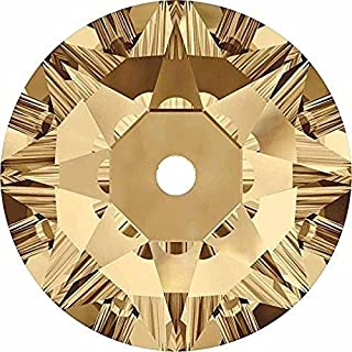 Swarovski 3188 Sew On Crystals Lochrose Sequins Crystal Golden Shadow | 5mm - Pack of 25 | Small & Wholesale Packs
