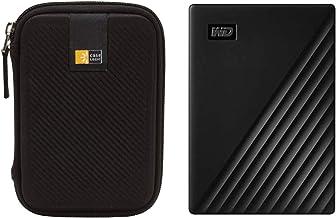 WD 4TB My Passport USB 3.2 Gen 1 Slim Portable External Hard Drive (2019, Black) + Compact Hard Drive Case (Black) (4TB, B...