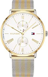 Tommy Hilfiger Women'S White Dial Two Tone Stainless Steel Watch - 1782074