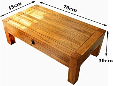 Tables Square Coffee Table Simple Solid Wood Desk Balcony Bay Window Drawer Table Storage Small Table Mini Computer Low Table