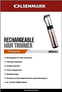 OLSENMARK OMTR4011,OlsenmarkRechargeable Hair Trimmer, black,