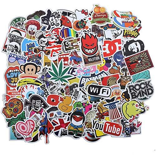 Funamee Graffiti - Lote de 100 pegatinas autoadhesivas para monopatín, bicicleta, ordenador portátil y guitario