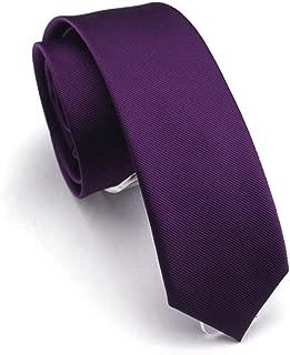 Solid Color Slim Ties Pure Color Necktie Mens Ties 2.4'' (6cm)+ Gift Box