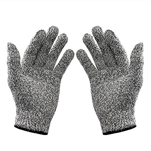 VOLO Cut Resistant Gloves, High Performance Level 5 Protection, Food Grade Kitchen Glove for Hand Safety While Cutting, Cooking, Safety for Yard Work (Free Size)