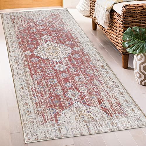 ReaLife Tapis Lavable en Machine – Fabrique a partir de Fibres recyclees de Haute-Qualite - Persian Distressed Clay, 75 x 180 cm