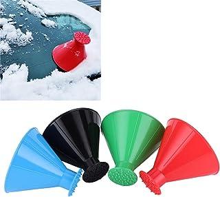 Nitrip 車用雪かき アイススクレーパー スノースクレーパー 漏斗型 雪除き スコップ 雪 除去用具 アイススクレーパー 霜取り 除雪 ウインターグッズ