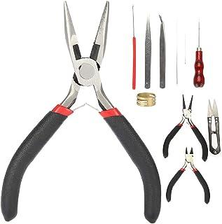 11 Pcs Kit de ferramentas de jóias DIY Conjunto de ferramentas para fabricação de jóias e ferramentas de reparos de jóias,...