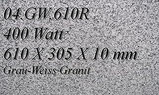 Magma 04.GW.610R - Calefactor de infrarrojos eléctrico (mármol, 400 W, incluye termostato con 2 luces de control, interruptor y ajuste de temperatura)