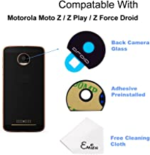 EMiEN Back Rear Facing Camera Glass Lens Cover Replacement Parts with Adhesive For Motorola Moto Z/Z Play/Z Force Droid