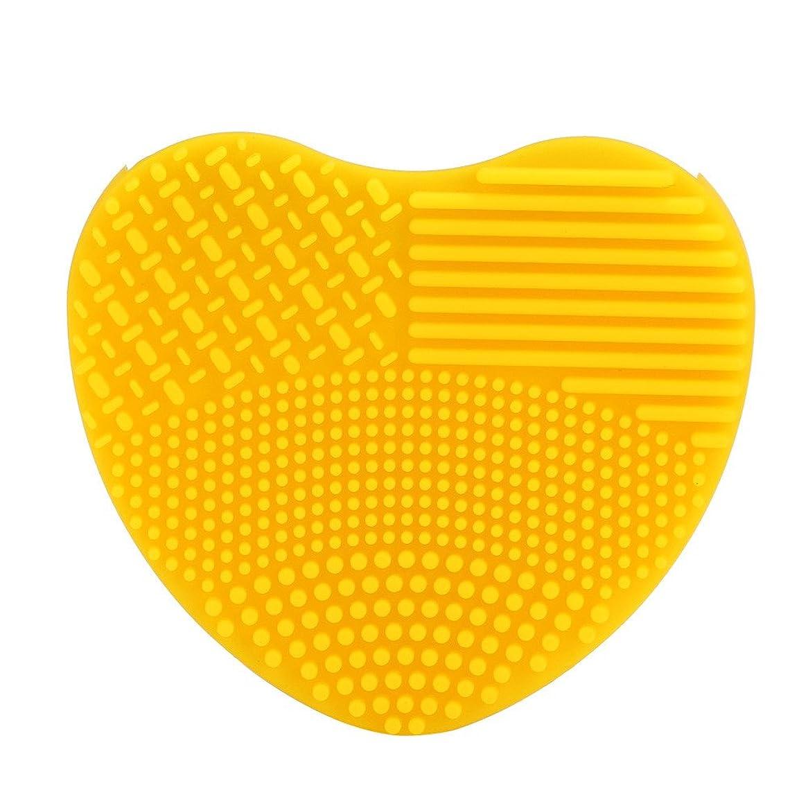 誓うコンクリートカーテンシリコーン YOKINO 洗濯板 ポータブル メイクブラシクリーナー 旅行 や 外泊 の 必需品 化粧ブラシクリーナー 洗浄ブラシ 清掃ブラシ (G)
