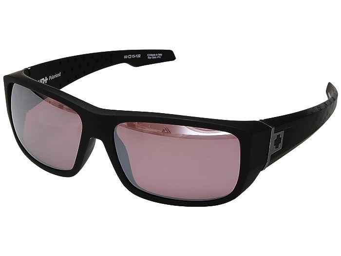 Spy Optic MC3 (Matte Black Logo Fade/HD Plus Rose Polar/Silver Spectra) Athletic Performance Sport Sunglasses
